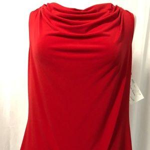 NEW Calvin Klein Women's Top Red Sleeveless